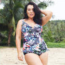 [Capriosca Swimwear Side Ruched One Piece Graphic Floral - $132.00]