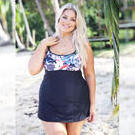 [Capriosca Swimwear Plus Size Underwire Swimdress Noosa - $132.00]