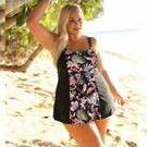 [Black Tropics Swimdress by Capriosca Swimwear - $143.00]