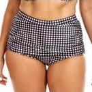 [Retro Check Ruched Skirted Pant by Capriosca - $60.00]