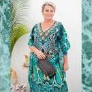 [Jade Snake Long Kaftan Dress - $175.00]