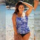 [Blue Hawaii Twist Bandeau Tankini Top - $121.00]